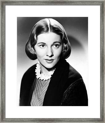 Joan Fontaine In Jane Eyre  Framed Print