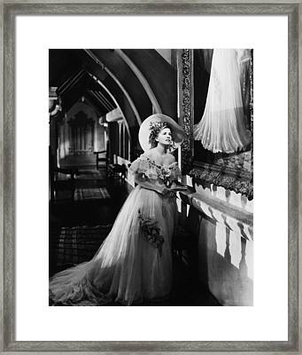 Joan Fontaine In Rebecca  Framed Print