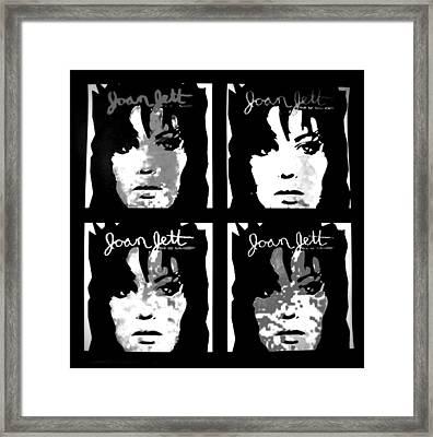 Joan Jett Framed Print by Cat Jackson