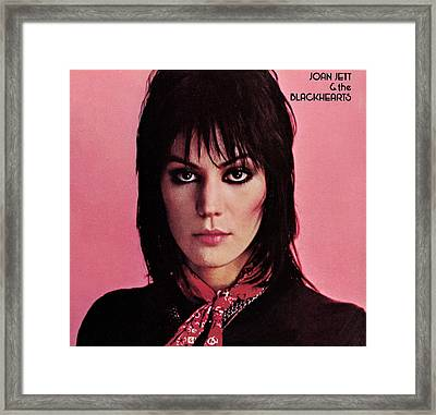 Joan Jett - Crimson And Clover 1982 - Back Cover Framed Print by Epic Rights