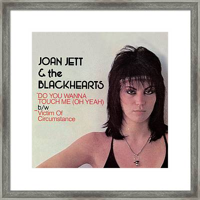 Joan Jett - Do You Wanna Touch Me 1982 Framed Print by Epic Rights
