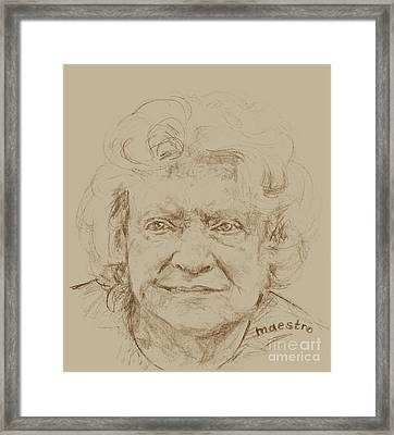 Joan Framed Print by  Maestro