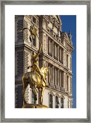 Joan Of Arc Framed Print by Brian Jannsen