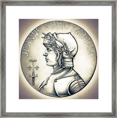 Joan Of Arc - Original Framed Print by Fred Larucci