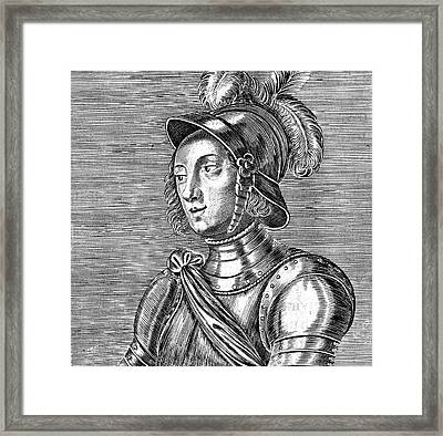 Joan Of Arc  French Heroine Framed Print by Mary Evans Picture Library