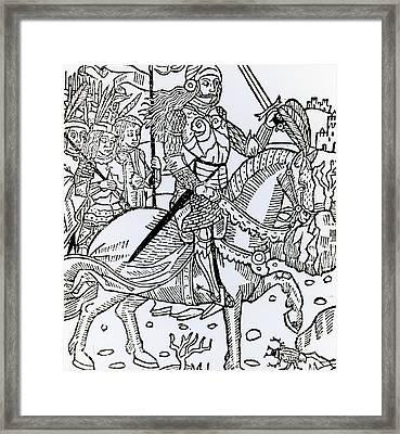 Joan Of Arc Framed Print by French School
