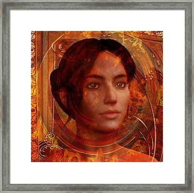 Framed Print featuring the painting Joan Of Arc Holy Fire by Suzanne Silvir