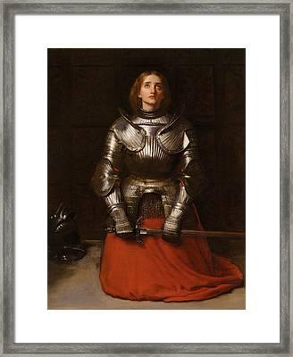 Joan Of Arc Framed Print by John Everett Millais