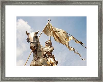 Joan Of Arc Framed Print by Pamela Schreckengost