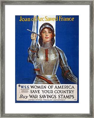 Joan Of Arc Saved France Framed Print by William Haskell Coffin