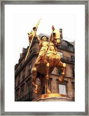 Joan Of Arc Statue Framed Print by John Rizzuto