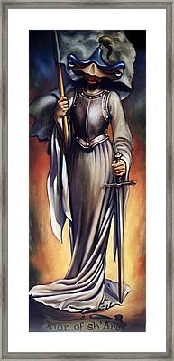Joan Of Sharc Framed Print by Patrick Anthony Pierson