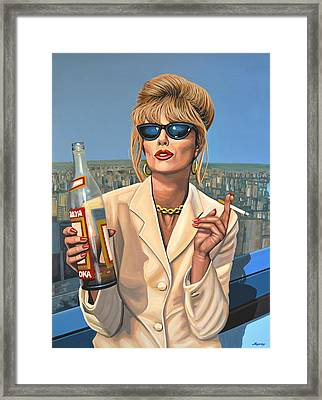Joanna Lumley As Patsy Stone Framed Print by Paul Meijering