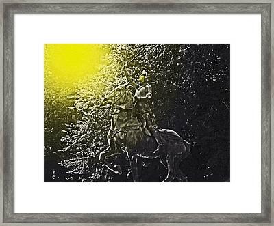 Joans Calling Framed Print