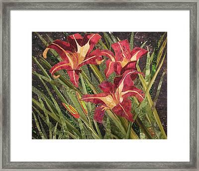 Joan's Daylilies Framed Print