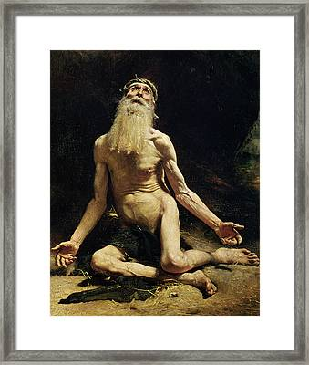 Job Framed Print by Leon Joseph Florentin Bonnat
