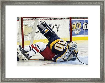 Job One Is Stop The Puck Framed Print