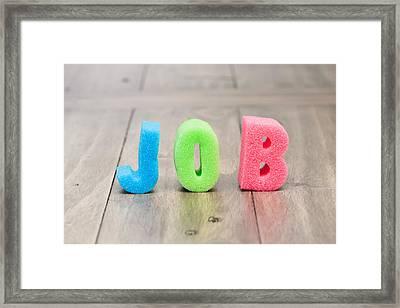Job Framed Print