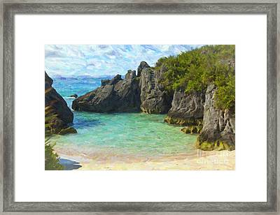Framed Print featuring the photograph Jobson Cove Beach by Verena Matthew
