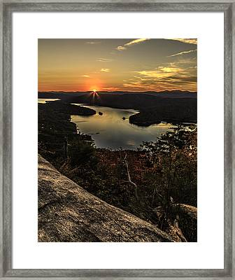 Jocassee Gold Framed Print