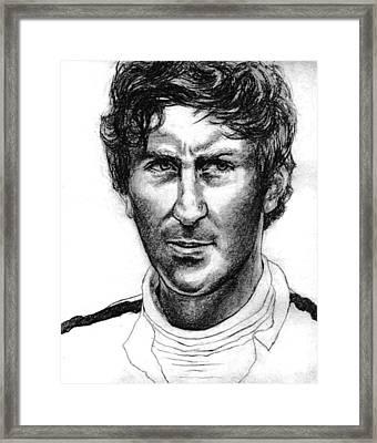 Jochen Rindt Framed Print by Diane Fine