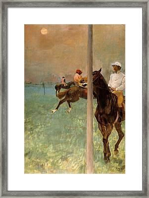 Jockeys Before The Start Framed Print