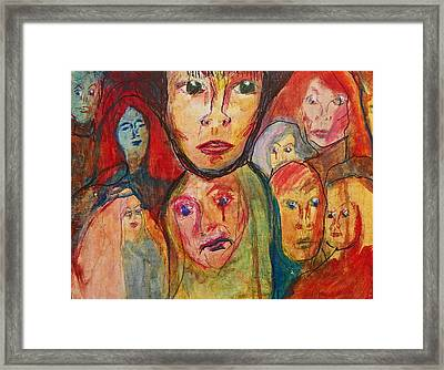 Jodi And The Puzzles Of Life Framed Print by Judith Redman
