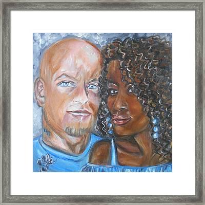 Joe And Jess Framed Print