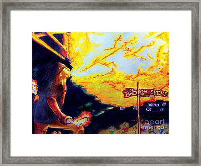 Joe At The Broken Spoke Saloon Framed Print by Albert Puskaric