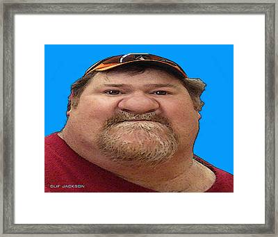 Joe Baloney Framed Print by Clif Jackson