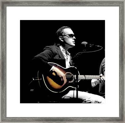 Joe Bonamassa In Concert Framed Print by Michael Brady