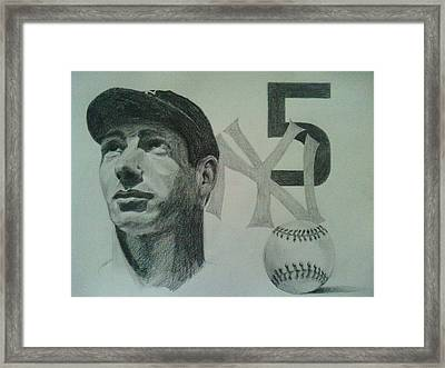 Joe Di Maggio Framed Print by Chris Lambert