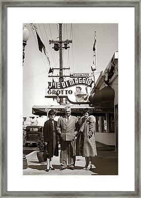 Joe Di Maggio Grotto Framed Print by Marilyn Hunt