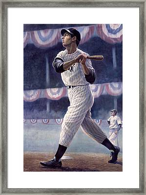 Joe Dimaggio Framed Print by Gregory Perillo