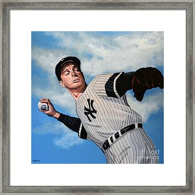 Joe Dimaggio Framed Print by Paul Meijering