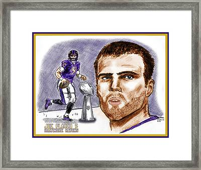 Joe Flacco Framed Print by Chris  DelVecchio
