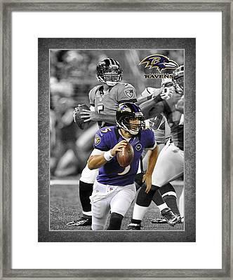 Joe Flacco Ravens Framed Print by Joe Hamilton