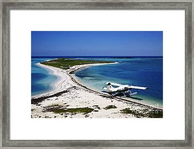 Joe Fox Fine Art - Dehaviland Dhc-3 Otter Seaplane On The Beach  Framed Print by Joe Fox