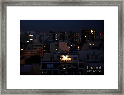 Joe Fox Fine Art - Dinner For Two Night Framed Print