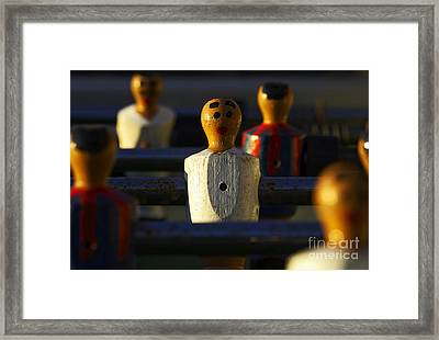 Joe Fox Fine Art - Fussball Table Soccer Player Framed Print