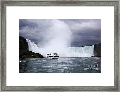 Joe Fox Fine Art - Maid Of The Mist Boat On The Niagara River Ap Framed Print