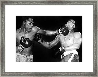 Joe Frazier Vs. Muhammad Ali Framed Print by Everett
