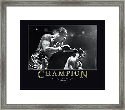Joe Louis Champion  Framed Print by Retro Images Archive