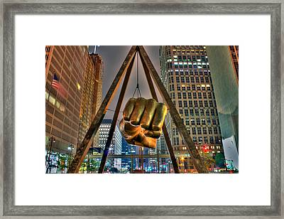 Joe Louis Fist Detroit Mi Framed Print by A And N Art