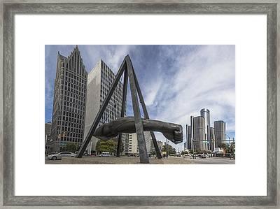 Joe Louis Fist Downtown Detroit  Framed Print
