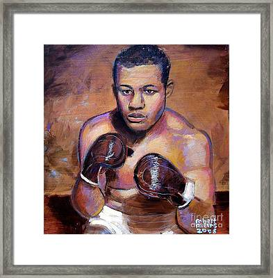 Framed Print featuring the painting Joe Louis by Robert Phelps
