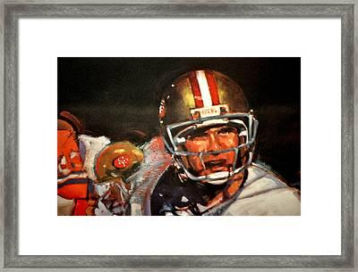 Joe Montana Framed Print