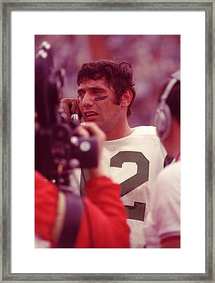 Joe Namath Talking It Over Framed Print by Retro Images Archive