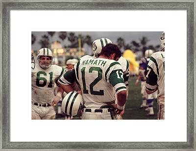 Joe Namath On Sideline Framed Print