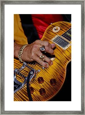 Joe Perry - Aerosmith Framed Print